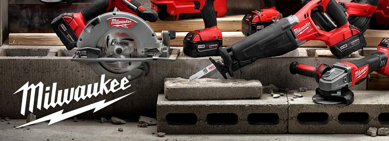 Shop Milwaukee with logo with power tool assortment