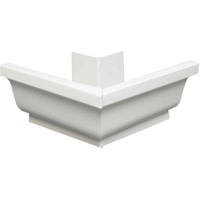 Amerimax 5 In. Galvanized White Mitre Gutter Outside Corner
