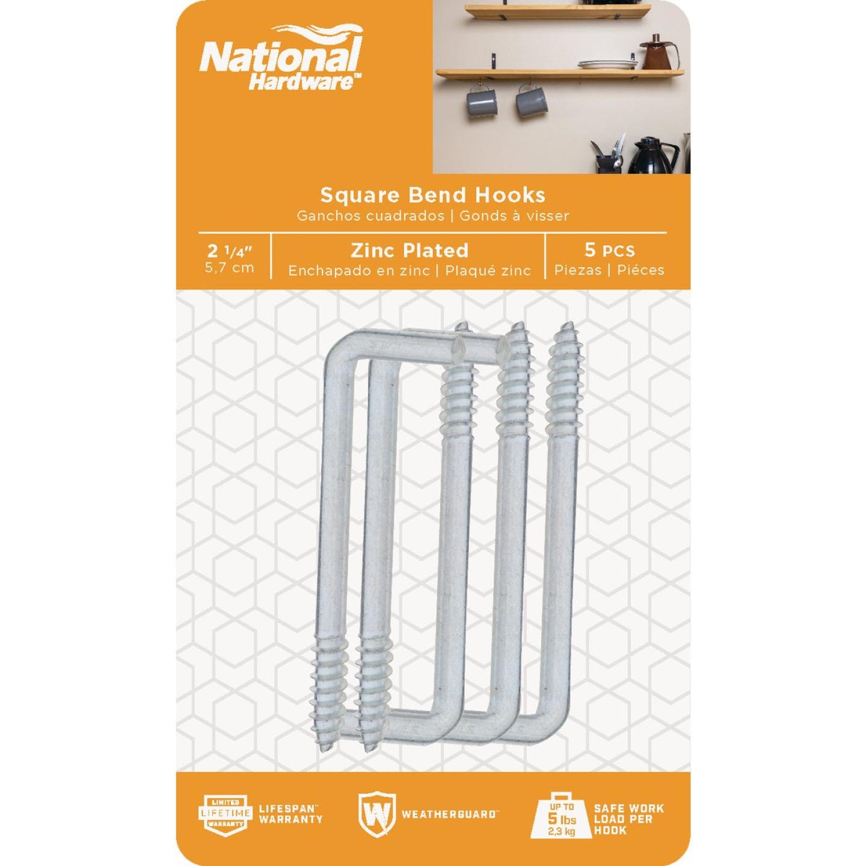 National 2030 Series #108 Square Bend Screw Hook Shoulder Hook (5 Count) Image 2