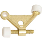 National Bright Brass Zinc Hinge Pin Door Stop Image 1