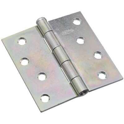 National 4 In. Square Zinc Plated Steel Broad Door Hinge