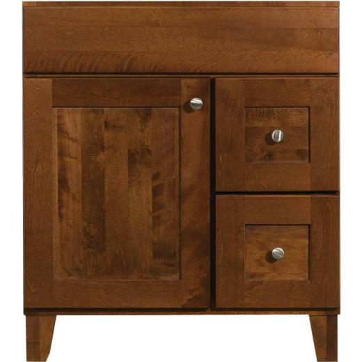 Bertch Osage Brindle 30 In. W x 34-1/2 In. H x 21 In. D Vanity Base, 1 Door/2 Drawer