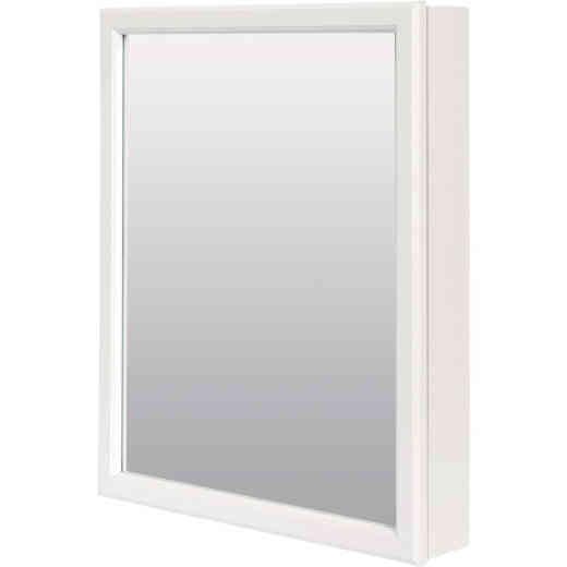 Zenith Zenna Home White 20 In. W. x 25 In. H. x 4.5 In. D. Single Mirror Surface Mount Framed Medicine Cabinet