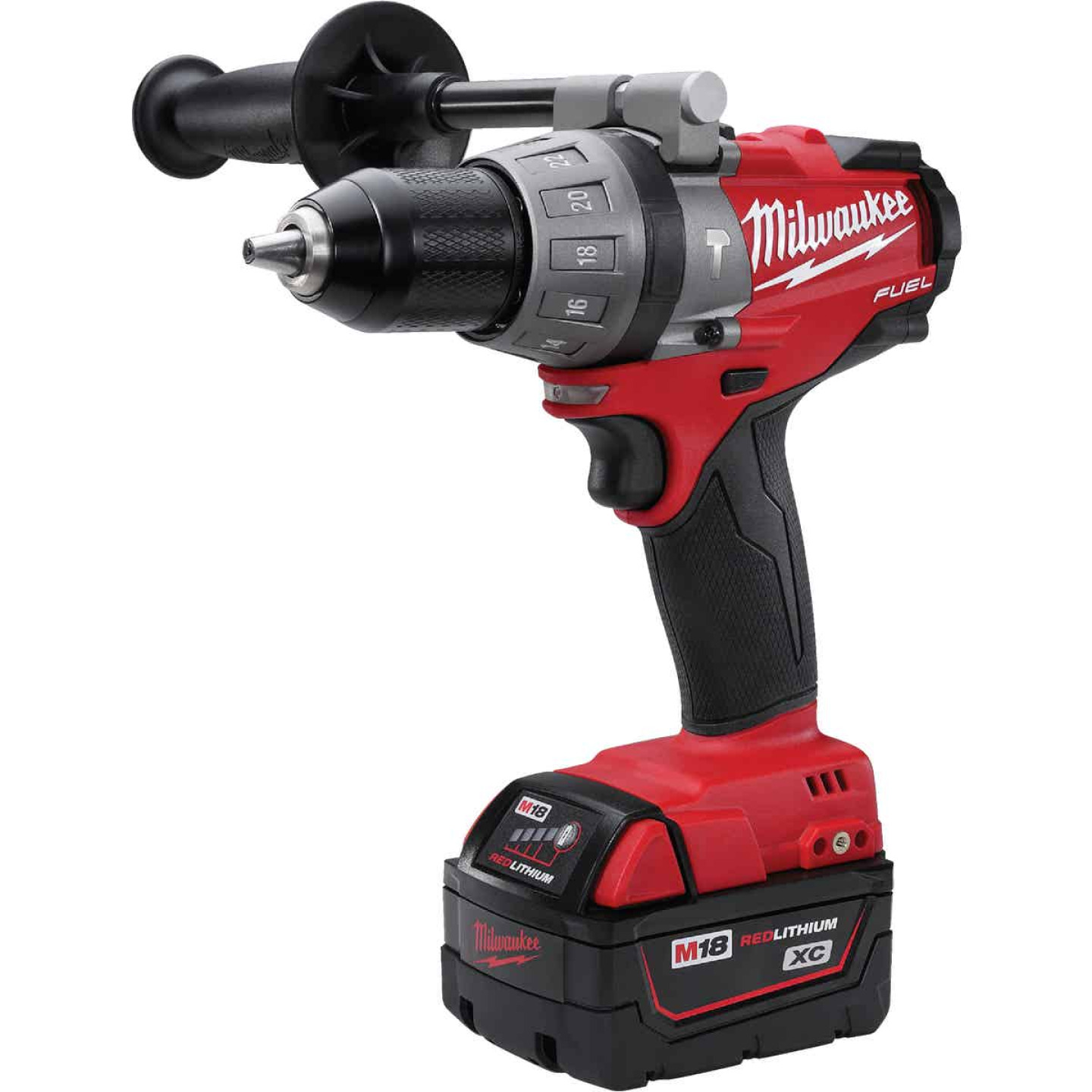 Milwaukee M18 FUEL 18-Volt XC Lithium-Ion Brushless 1/2 In. Cordless Hammer Drill Kit Image 3