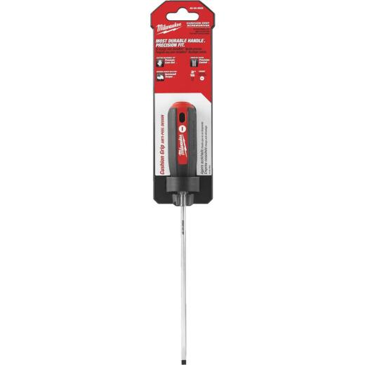 Milwaukee 3/16 In. x 6 In. Slotted Screwdriver with Cushion Grip Handle