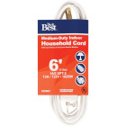 Do it Best 6 Ft. 16/2 White Cube Tap Extension Cord Image 1