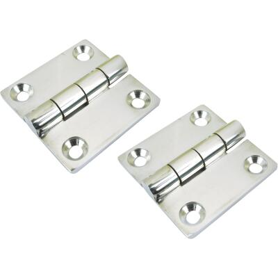 Seachoice 2 In. Stainless Steel Butt Hinge (2-Pack)