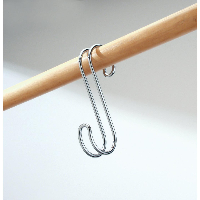 iDesign Classico Chrome Closet Rod S-Hook Image 2