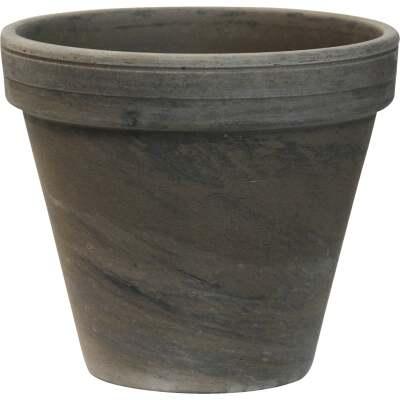 Ceramo 5-1/4 In. H. x 6 In. Dia. Dark Basalt Clay Standard Flower Pot
