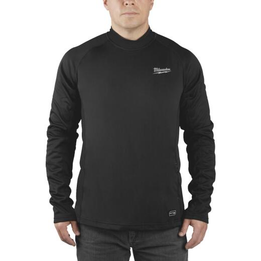 Milwaukee Workskin REDLITHIUM USB Large Black Heated Midweight Base Layer Shirt