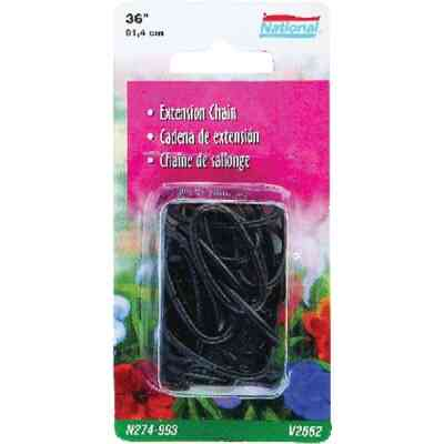 National 36 In. Black Metal Hanging Plant Extension Chain