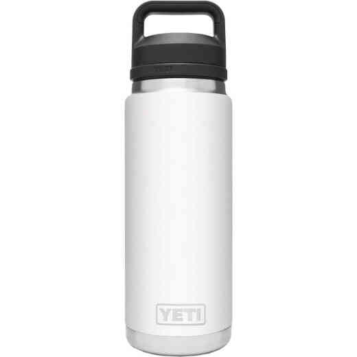 Yeti Rambler 26 Oz. White Stainless Steel Insulated Vacuum Bottle with Chug Cap